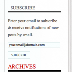 Subscribe Feature