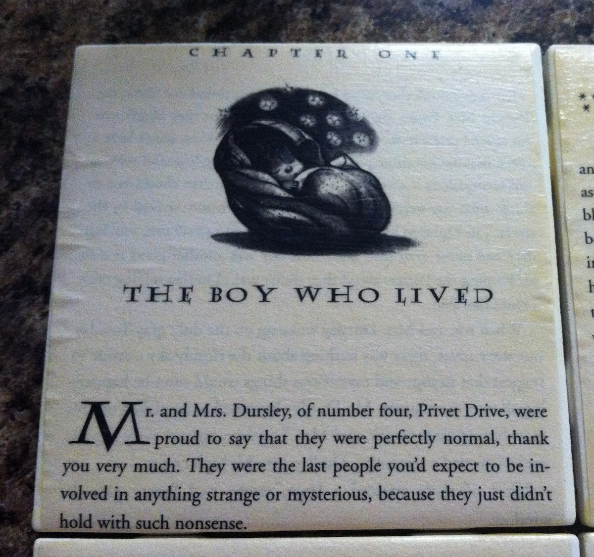 Harry Potter Tile Coasters « Coll Writes