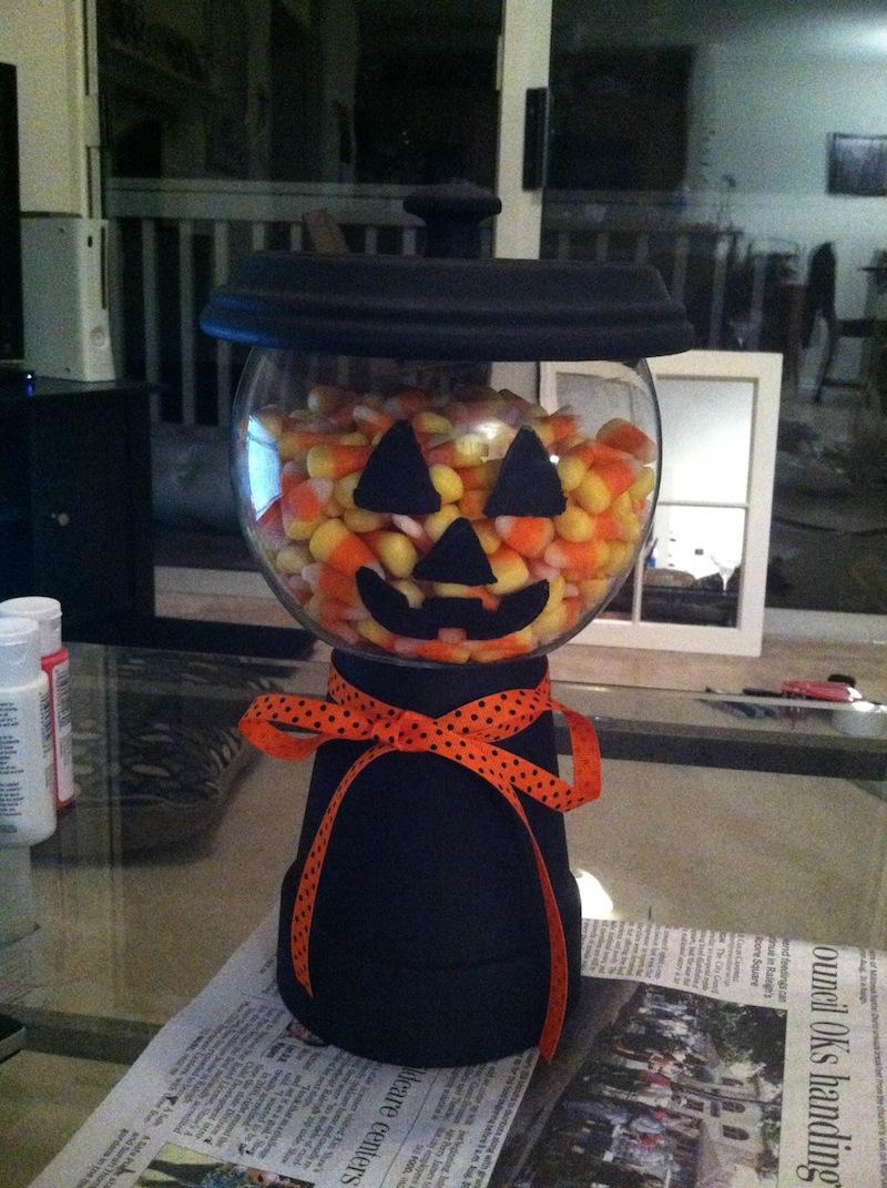 Diy Terra Cotta Candy Jar Jack O Lantern Coll Writescoll Writes
