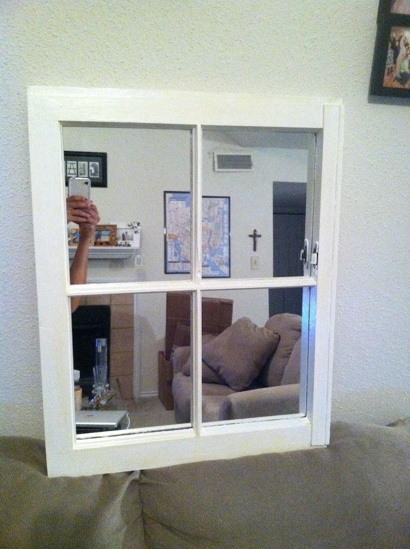 window mirror after - Window Frame Mirror