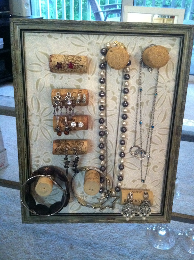 Diy Wine Cork Jewelry Organizer Coll Writescoll Writes